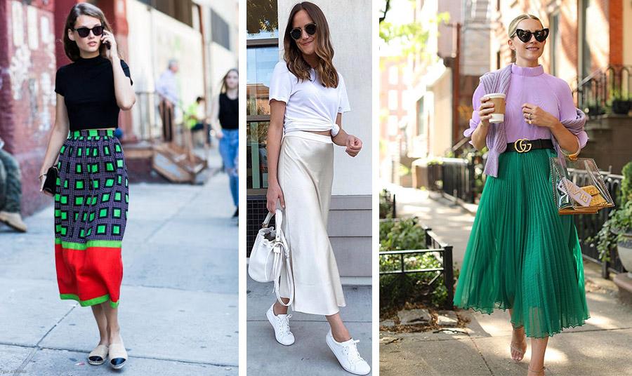 Ένα statement print με ένα απλό μπλουζάκι για όλες τις ώρες της ημέρας //Μία μεταξωτή ή σατέν μίντι φούστα μπορεί να φορεθεί ακόμη και με αθλητικά σας! Η μονοχρωμία και μάλιστα σε λευκό χαρίζει μία κομψή εμφάνιση! // Φορέστε μία αιθέρια μίντι φούστα με χρώμα. Συνδυάστε παπούτσια σε μπεζ ουδέτερο χρώμα για τέλειο αποτέλεσμα