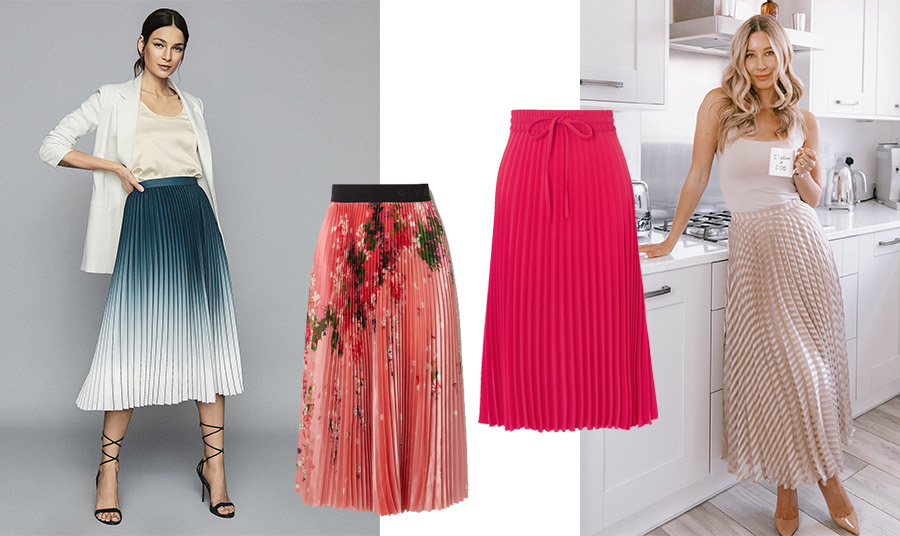 Το πλισέ είναι πολύ της μόδας φέτος το καλοκαίρι. Προτιμήστε αιθέρια υφάσματα με πολύ λεπτό πλισέ // Υπέροχη φούστα σε ροδί χρώμα με λουλούδια, Givenchy // Κόκκινη πλισέ, Valentino // Τα ουδέτερα χρώματα δημιουργούν μία κομψή εμφάνιση που ταιριάζει και σε πιο μικροσκοπικές γυναίκες