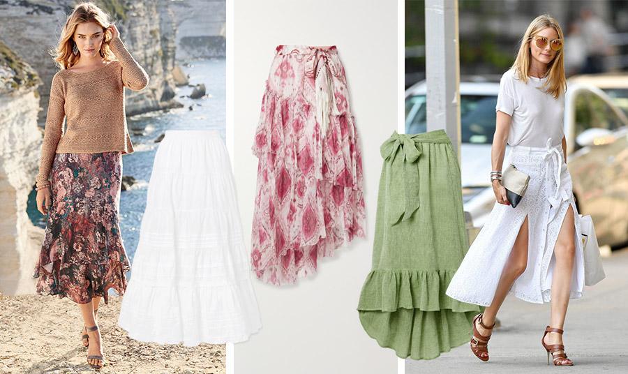 Μία μίντι φούστα για τις διακοπές με ρομαντικά φλοράλ // Ρομαντικό στυλ με βολάν σε λευκό χρώμα, Ulla Johnson // Φλοράλ, ροζ και λευκό, κατάλληλη για το βράδυ, Zimmerman // Wrap φούστα με βολάν που δένει σε έναν θηλυκό φιόγκο, Lisa Marie Fernandez // Ρομαντικό και σέξι ταυτόχρονα! Λευκή εμφάνιση με ταμπά ψηλοτάκουνα πέδιλα, ιδανικός συνδυασμός