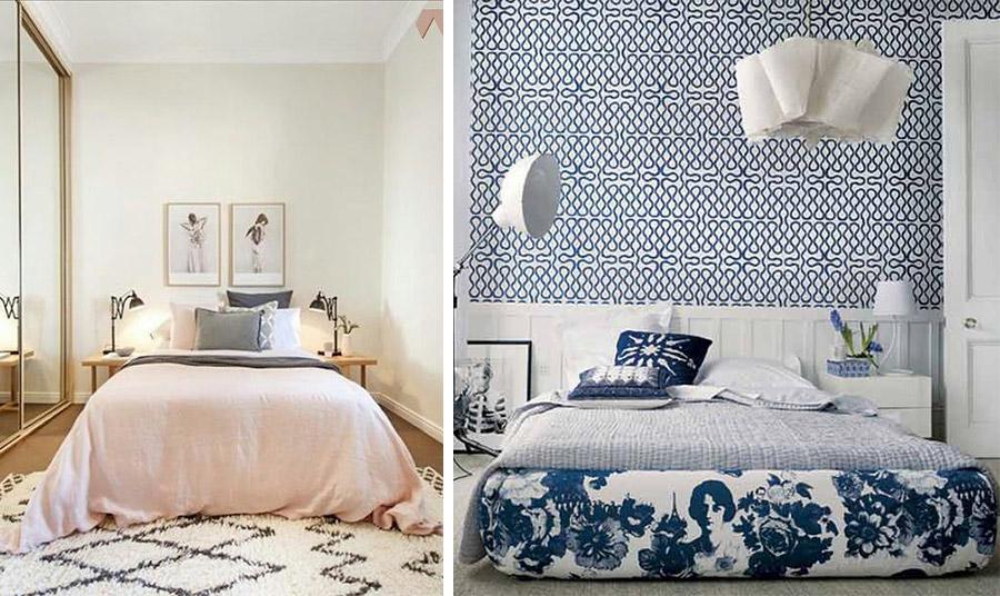 Ένα στρώμα-υπόστρωμα κάνει το κρεβάτι να μην προκαλεί «ασφυξία» στον χώρο. // Χρησιμοποιήστε πιο μικρού όγκου έπιπλα, όπως αυτή τα ανάλαφρα τραπεζάκια για κομοδίνο