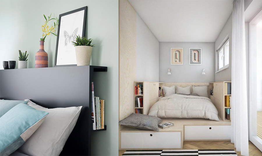 Εκμεταλλευθείτε με έξυπνο τρόπο κάθε σημείο! Φτιάξτε για παράδειγμα ένα κεφαλάρι που μπορεί να έχει και αποθηκευτικό χώρο ή φτιάξτε ραφάκια σε κάποιον τοίχο