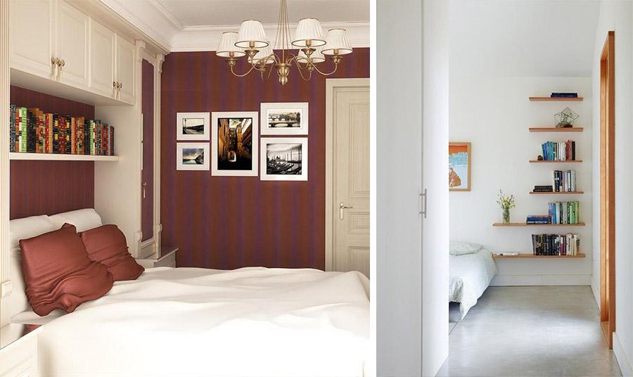 Χρησιμοποιήστε τον τοίχο γύρω από το κρεβάτι για να δημιουργήσετε αποθηκευτικούς χώρους και ντουλάπες