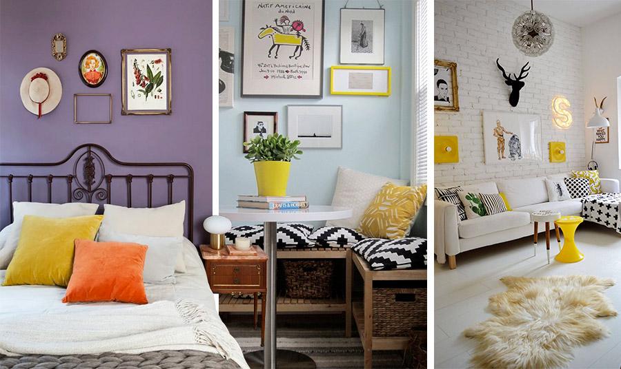 Βάψτε έναν τοίχο σε έντονο χρώμα ή χρησιμοποιήστε πινελιές ζωηρών αποχρώσεων στα διακοσμητικά για να τονίσετε μία λευκή διακόσμηση