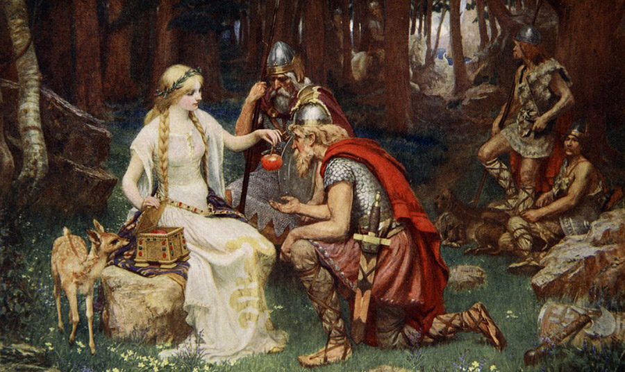 """Idun and the Apples"" by James Doyle Penrose (1890)"
