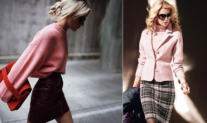 Φορέστε τη μίνι φούστα σας με ένα χοντρό πλεκτό // Συνδυάστε την με ψηλά τακούνια και ένα ωραίο, κομψό σακάκι για «ενήλικο» στιλ