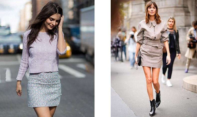 Ένα λεπτεπίλεπτο εμπριμέ ( π.χ. φλοράλ) κάνει μια μίνι φούστα να δείχνει πιο κομψή και θηλυκή και όχι τόσο νεανική // Προτιμήστε κάτι πιο καλοραμμένο, που να θυμίζει ταγιέρ