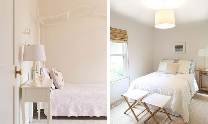 Ένα κρεμ ή με νότες παστέλ για τους τοίχους χαρίζει στιλ και ζεστασιά // Αναμείξτε διαφορετικές υφές και υλικά, π.χ. διαφορετικά υφάσματα και ρατάν για κουρτίνα!