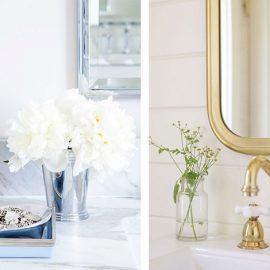 Ακόμη και στο μπάνιο σας προσθέστε ένα μικρό βαζάκι με λουλούδια // Χρυσαφί βρύσες; Χαρίζουν μία πιο «θερμή» αίσθηση και σίγουρα μία νότα πολυτέλειας