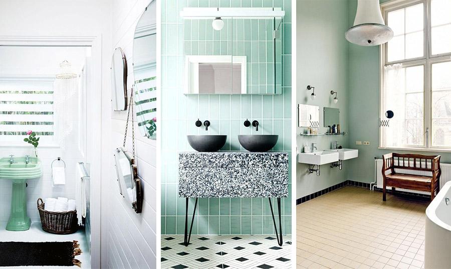 Το πράσινο της μέντας ταιριάζει απόλυτα στο μπάνιο μας, αφού αποπνέει μία «νερένια» αίσθηση, φρεσκάδα και γαλήνη. Το στιλ εναπόκειται στο γούστο σας!