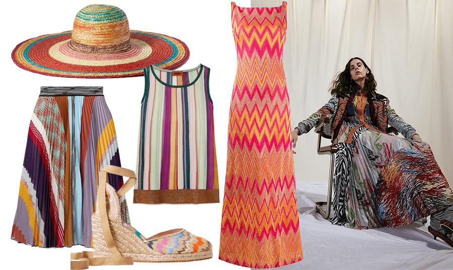 Πάρτε μία μικρή γεύση από τα μοναδικά χρώματα τις ρίγες και τα ζιγκ ζαγκ που χαρακτηρίζουν τον ιταλικό οίκο, από τη συλλογή άνοιξη-καλοκαίρι 2020