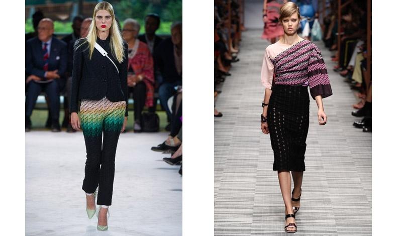 Αυστηρά, ντεγκραντέ ζιγκ-ζαγκ για την άνοιξη/καλοκαίρι 2013 // Κομψά και στις ροζ αποχρώσεις της μόδας για τη σεζόν άνοιξη/καλοκαίρι 2014