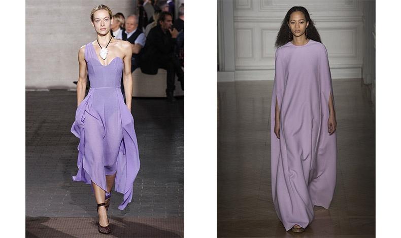 To λιλά θα κυριαρχήσει μέσα στο 2018! Ανάλαφρο φόρεμα, Mouret // Μακρύ φόρεμα σε απαλό λιλά, Valentino