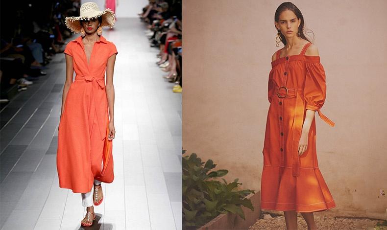 Η αναβίωση του πορτοκαλί, δύσκολα θα μας αφήσει τελικά αδιάφορες, Φόρεμα, Βadgley Μishcka // Δημιουργία του Derek Lam