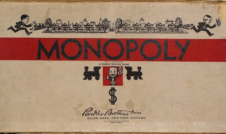 Από τις πρώτες εκδόσεις της Μονόπολης στις ΗΠΑ