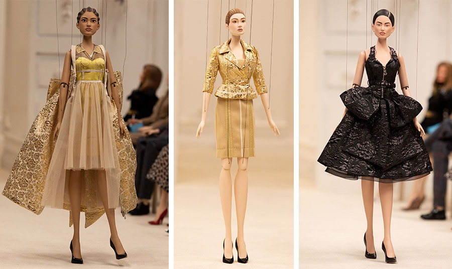 Οι εκπληκτικές κούκλες μοντέλα και celebrities που αποτελούσαν το «κοινό» δημιουργήθηκαν  σε συνεργασία με το Jim Henson's Creature Shop
