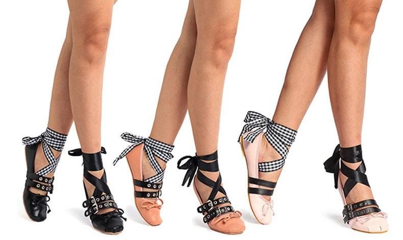 Ακόμη και οι χρωματικές επιλογές παραπέμπουν στα παπούτσια του χορού!