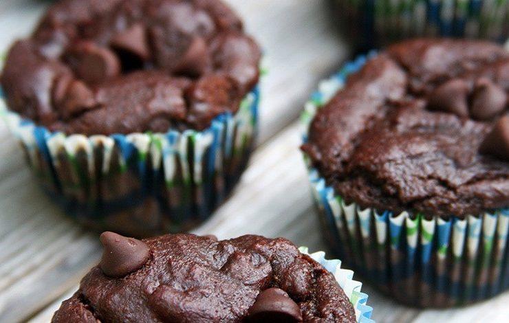 Muffins με σοκολάτα και μπανάνα, ιδανική και για δίαιτα!