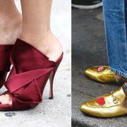 Ιδιαίτερα mules σε μπορντό χρώμα σε περίτεχνο σχέδιο από ύφασμα // Τα πιο trendy mules για τη φετινή σεζόν είναι σίγουρα τα Gucci
