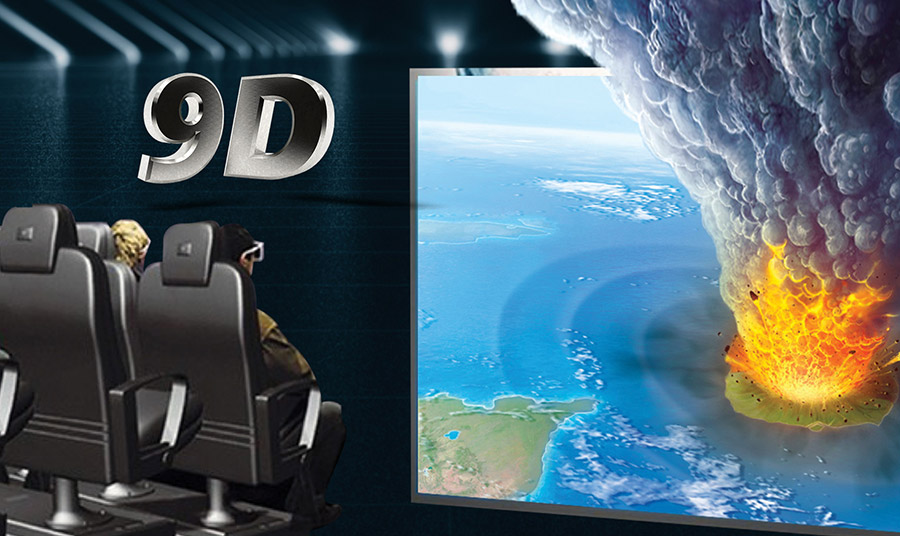 Στο μουσείο με τη βοήθεια της τεχνολογίας θα ζήσετε με όλες τις αισθήσεις σας τον σεισμό, το τσουνάμι και την έκρηξη του ηφαιστείου που οδήγησαν στην καταστροφή της Ατλαντίδας μέσα από μια ανεπανάληπτη 9D εμπειρία!
