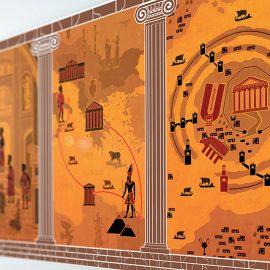 Στο νέο μουσείο θα ανακαλύψετε τις αποδείξεις που συνδέουν τον μύθο της Ατλαντίδας με την έκρηξη του ηφαιστείου της Σαντορίνης αλλά και θα εξερευνήσετε μια διαδραστική τοιχογραφία μαθαίνοντας για τη ζωή του Πλάτωνα που τον ενέπνευσε για την ιδανική πολιτεία
