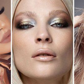 Ασημί σκιές ή σε συνδυασμό με χρυσαφί δημιουργούν μία έντονη λάμψη στο μακιγιάζ των ματιών