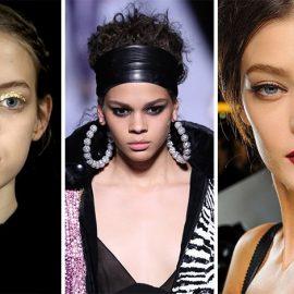 Από τις πασαρέλες: Φύλλα χρυσού, Ulla Johnson // Έντονο eye liner και cat eye για τον Tom Ford // Υποψία ασημί σκιάς και γατίσια μάτια για τους Dolce & Gabbana
