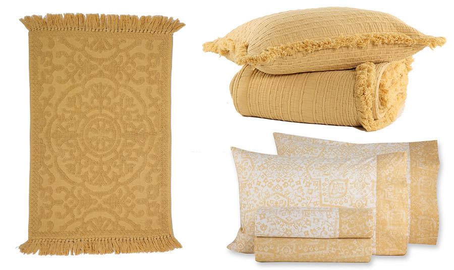 Χαλάκι μπάνιου, κουβέρτα και μαξιλάρι Madison και σετ σεντόνια Smart Line, Nef Nef Homeware