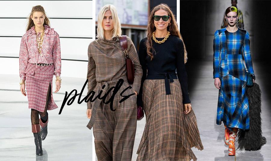 Από την πασαρέλα φθινόπωρο 2020-χειμώνας 2021, ροζ καρό, Chanel // Υπέροχο… καρό στιλ από την Εβδομάδα Μόδας της Κοπεγχάγης // Σε μαύρο και μπλε, το καρό σύνολο, Dries Van Noten