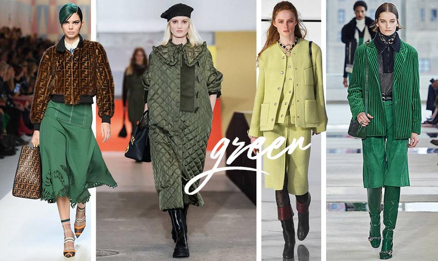Οι πολλές αποχρώσεις του πράσινου! Πάρτε μία γεύση από τις φετινές πασαρέλες: Fendi // Ganni // Stefanie Cardinalle // Longchamps