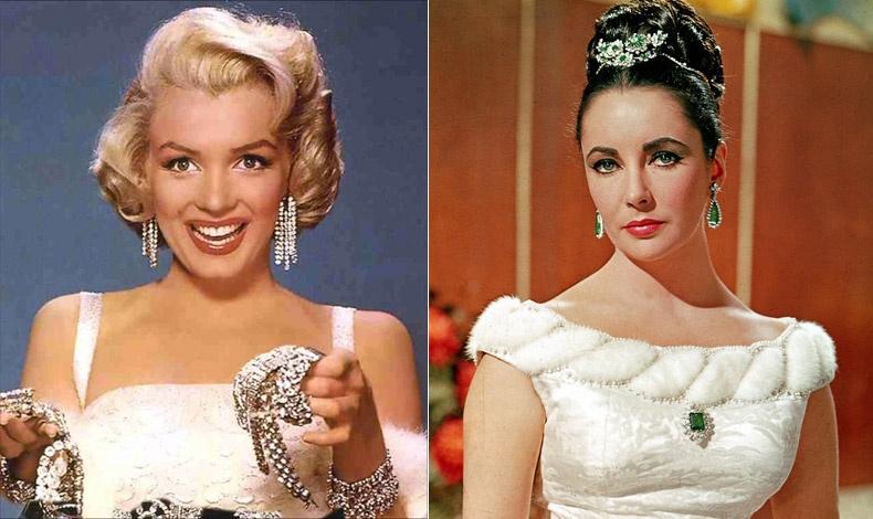 Η Μέριλιν Μονρόε ήξερε καλά ότι τα διαμάντια είναι οι καλύτεροι φίλοι μιας γυναίκας! // Η Ελίζαμπεθ Τέιλορ,  όχι μόνο λάτρευε τα κοσμήματα αλλά είχε στη συλλογή της και μερικά από τα πιο διάσημα κομμάτια όλων των εποχών.