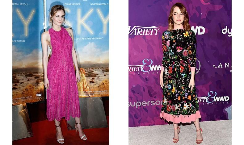 Η Diane Kruger στα φούξια και η EmmaStone με ένα εντυπωσιακό φλοράλ αποδεικνύουν ότι το χρώμα μπορεί να μας κάνει να ξεχωρίσουμε