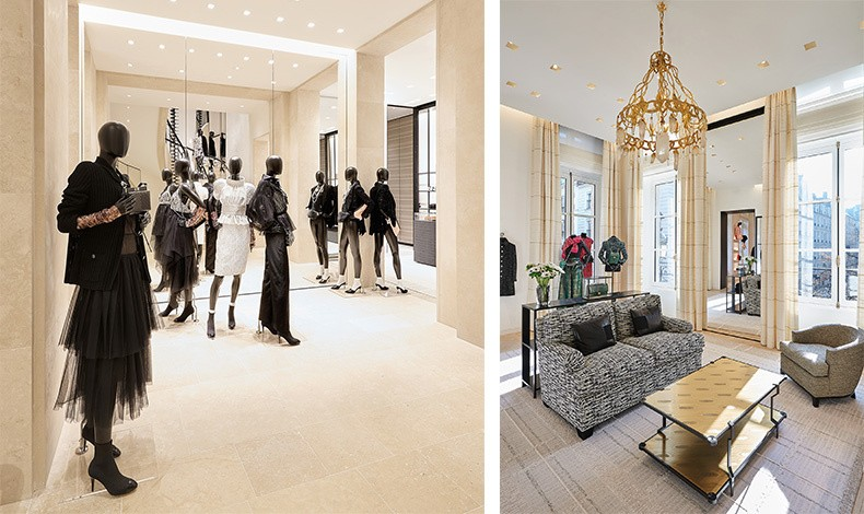 Υλικά που δημιουργούν ενδιαφέρον κοντράστ, από τα υπέροχα δάπεδα μέχρι τα εξαιρετικά έπιπλα όλα αποπνέουν το στιλ και την κομψότητα του οίκου Chanel και της ιδρύτριάς του