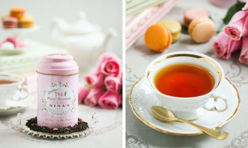 Το υπέροχο τσάι Marie Antoinette σερβίρεται με τον αριστοκρατικό και κομψό τρόπο που ταιριάζει... στις Βερσαλλίες!