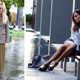 Φορέστε δετά ανδρικού στιλ παπούτσια ακόμη και με μακριές φούστες! // Η εκδοχή των brogues με μεταλλικές λάμψεις προσθέτουν θηλυκότητα στο λουκ