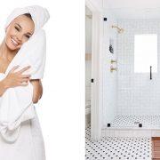Μια μεγάλη, χνουδωτή, αφράτη και μοσχομυριστή πετσέτα μπάνιου ή μπουρνούζι δίνει τον τόνο της θαλπωρής και της πολυτέλειας // Ένας τακτοποιημένος και καθαρός χώρος δημιουργεί μια ευχάριστη αίσθηση