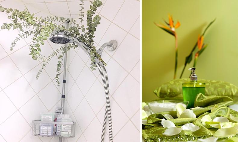 Το χαλαρωτικό άρωμα και το βαθύ πράσινο χρώμα των φύλλων ευκάλυπτου προσφέρουν έναν ήρεμο τόνο και ευωδιά που θυμίζει spa // Mην παραλείψετε να χρησιμοποιήσετε τα ευεργετικά αιθέρια έλαια