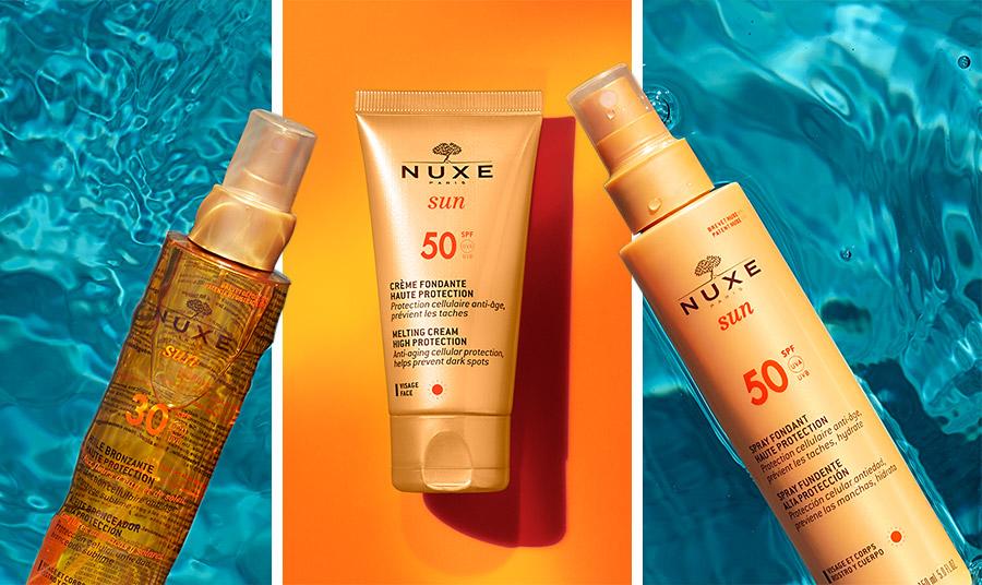 Aντηλιακή κρέμα προσώπου, Sun Creme Fondante Haute Protection SPF50 της Νuxe παρέχει πολύ υψηλή αντηλιακή και κυτταρική προστασία ενάντια στη γήρανση. ενυδατώνει το δέρμα και αποτρέπει τις κηλίδες που δημιουργούνται από την έκθεση στον ήλιο, χαρίζοντας λαμπερό μαύρισμα που διαρκεί. Αδιάβροχο, με λεπτή υφή για ομοιόμορφη εφαρμογή και υπέροχο καλοκαιρινό άρωμα.