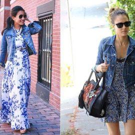 Φορέστε τζιν σακάκι ή πουκάμισο με φλοράλ για πολύ σύγχρονο στιλ