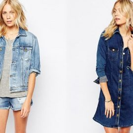 Τζιν σορτς για πιο casual και νεανική εμφάνιση // Ένα τζιν φόρεμα ανάλογα με τα αξεσουάρ ταιριάζει όλες τις ώρες της ημέρας