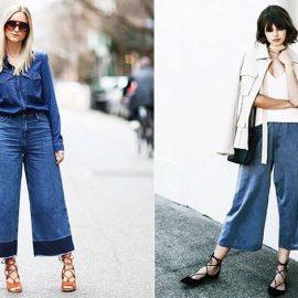 Οι τζιν ζιπ-κιλότ είναι πολύ της μόδας αυτή την εποχή