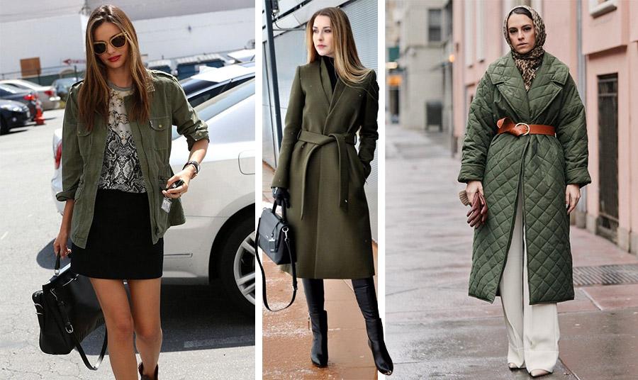 Οποιοδήποτε πανωφόρι ή σακάκι σε λαδί είναι η τελευταία λέξη της μόδας