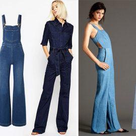 Ενδιαφέρουσα επιλογή αποτελούν και οι τζιν ολόσωμες φόρμες. Υπάρχουν σχέδια ιδανικά για ένα εντυπωσιακό βραδινό ντύσιμο και κάποια πιο casual για να φορεθούν στις καθημερινές σας δραστηριότητες