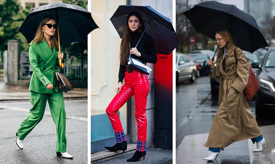 Οι μαύρες ομπρέλες είναι κλασικές και ταιριάζουν με όλα και παντού