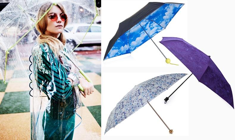 Από editorial του Elle Italia τον Απρίλιο του 2011 (φωτογράφος: David Burton) // Ομπρέλα? σαν συννεφιασμένος ουρανός, Τοpshop // Σε μοβ, Lucien Pellat Finet // Με ρομαντικό ύφος, London Undercover