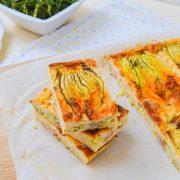 Ομελέτα φούρνου με κολοκυθανθούς
