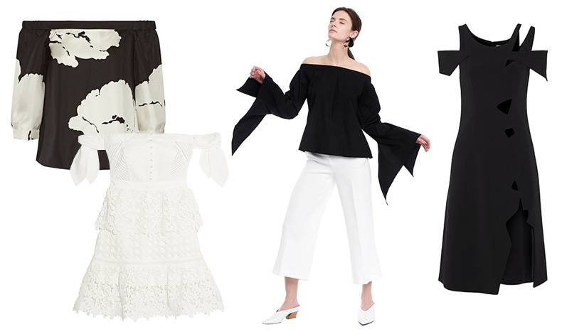 Για πιο βραδινές εμφανίσεις αλλά πάντοτε με στιλ! Με ασπρόμαυρο print, Tibi // Κοντό φόρεμα με δαντέλα, Self Portrait // Εντυπωσιακό στιλ σε μαύρο άσπρο // Μαύρο φόρεμα, Christopher Kane
