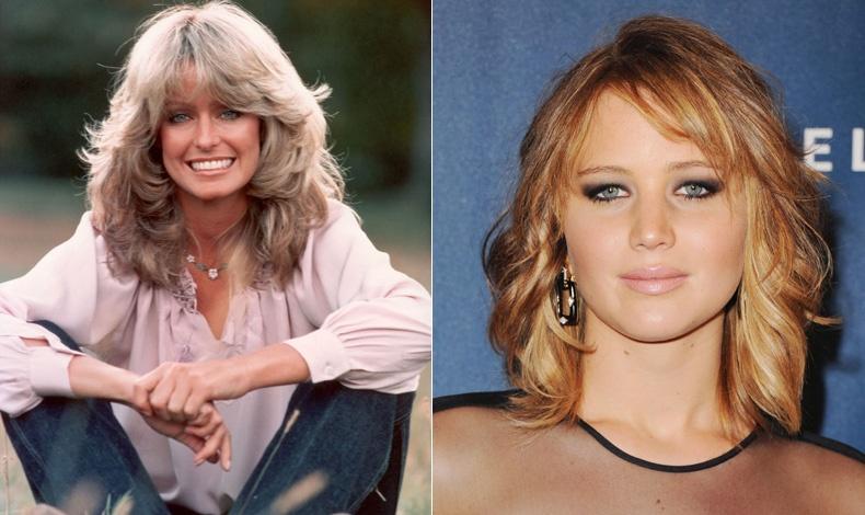 Το στιλ μαλλιών της Φάρα Φώσετ αντιγράφηκε όσο καμίας! // Η Jennifer Lawrence με τη σημερινή έκφραση του λουκ