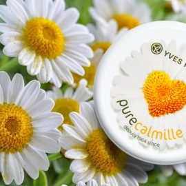 Από τους αγρούς του La Gacilly, η σειρά Pure Camille περιλαμβάνει προϊόντα καθαρισμού, κρέμα ημέρας και νύχτας που βασίζεται στο χαμομήλι και την καλέντουλα βιολογικής καλλιέργειας