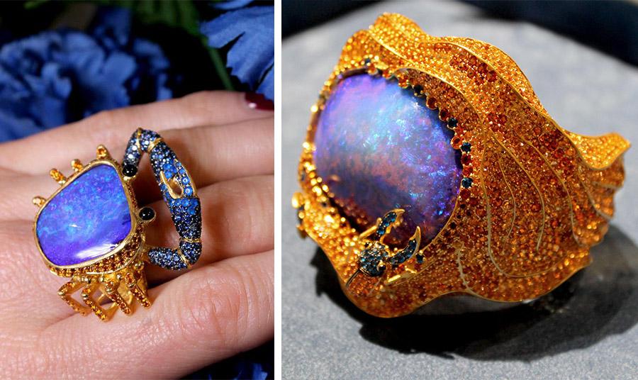 Δαχτυλίδια με οπάλια από τη συλλογή Sahara της σχεδιάστριας κοσμημάτων Lydia Courteille