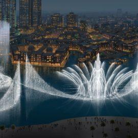 Ένα αληθινό show στα νερά της λίμνης Burj στο Ντουμπάι